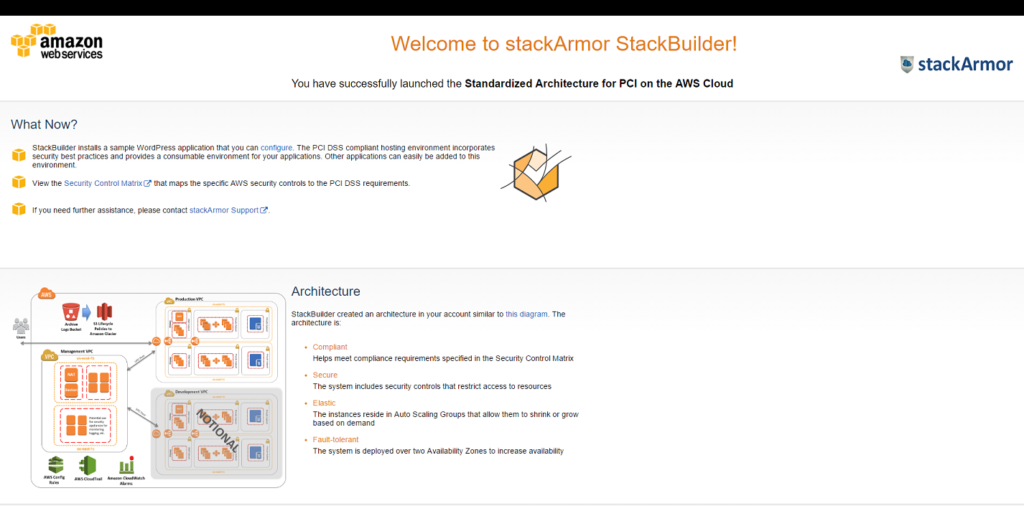 StackBuilder for rapidly deploying PCI DSS Compliant Applications in AWS